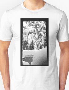 snow falling through window T-Shirt