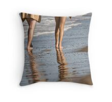The Beach Walkers Throw Pillow