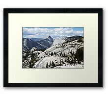 Half Dome in Yosemite National Park from Olmsted Point Framed Print