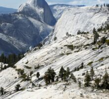 Half Dome in Yosemite National Park from Olmsted Point Sticker