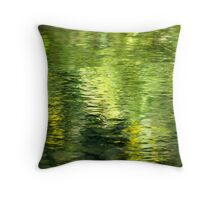Green Water Abstract Throw Pillow