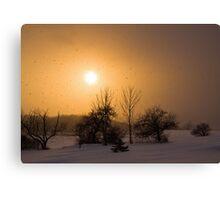 Snow Squaw Sunset Canvas Print