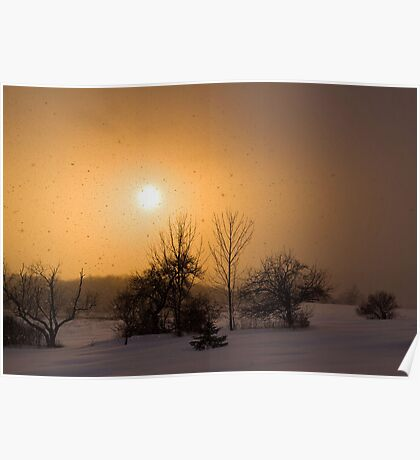 Snow Squaw Sunset Poster