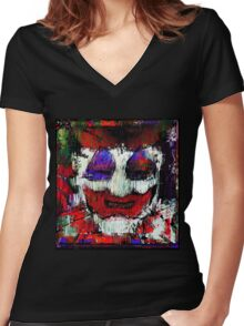 John Wayne Gacy. All the world loves a clown. Women's Fitted V-Neck T-Shirt