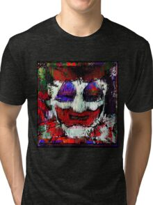 John Wayne Gacy. All the world loves a clown. Tri-blend T-Shirt