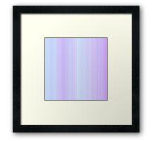 Lilac-Violet Stripes Framed Print