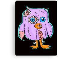 Purple Zombie Penguin Cartoon Canvas Print