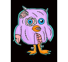 Purple Zombie Penguin Cartoon Photographic Print