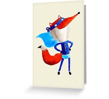 Super Fox Greeting Card