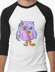 Purple Zombie Penguin Cartoon Men's Baseball ¾ T-Shirt