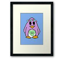 Pastel Penguin Framed Print