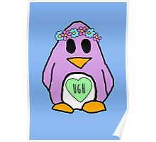 Pastel Penguin Poster