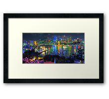 """Wonderland"" -  Sydney Harbour (Panoramic) - The HDR Experience Framed Print"