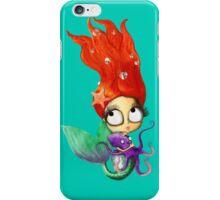 Red Hair Spooky Mermaid iPhone Case/Skin