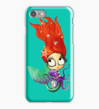 Red Hair Spooky Mermaid iPhone Case/Skin