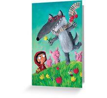 Not so Big Bad Wolf Greeting Card