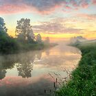 Sunrise On A Misty River by Veikko  Suikkanen