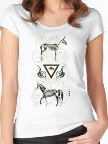 Undead unicorns #2 Women's Fitted Scoop T-Shirt