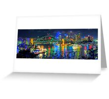 City Of Light - Sydney Harbour Fantasy (25 Exposure HDR Pano)- The HDR Experience Greeting Card