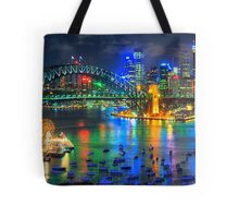 City Of Light - Sydney Harbour Fantasy (25 Exposure HDR Pano)- The HDR Experience Tote Bag