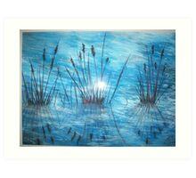 Reedy Reflections Art Print