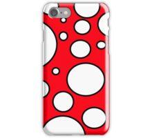 Red Mushroom Print Design  iPhone Case/Skin