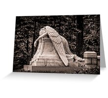 Weeping Angel - sepia Greeting Card