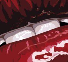 Dark Pink Layered Lips Sticker