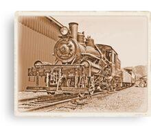 small steam engine Canvas Print