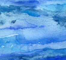 Blue Abstract Watercolor Sticker