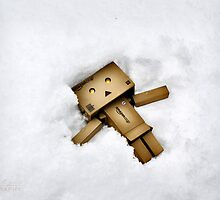 Danbo Snow Angel by Lisa Rodriguez