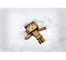 Danbo Snow Angel Photographic Print