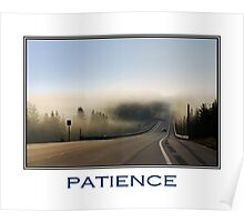 Patience Inspirational Art Poster