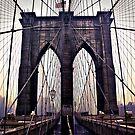 Gloomy Brooklyn Bridge by RayDevlin