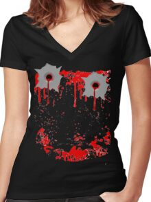 Smile Bullet Gore  Women's Fitted V-Neck T-Shirt