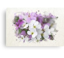 Wildflower Watercolor Art Canvas Print
