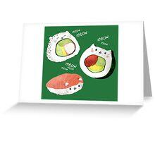Cute Sushi Rolls Greeting Card
