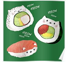 Cute Sushi Rolls Poster