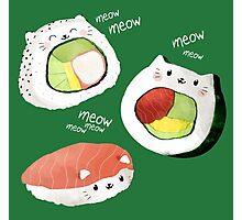 Cute Sushi Rolls Photographic Print