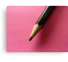 Pencil with Pink Canvas Print