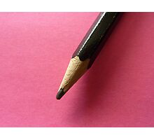 Pencil with Pink Photographic Print