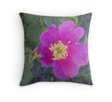 Wild Wild Rose Throw Pillow