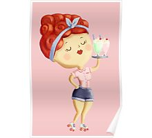 Pin Up Waitress Poster