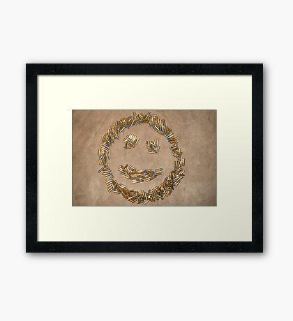 Ammo Smiley Framed Print