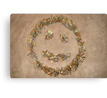 Ammo Smiley Canvas Print