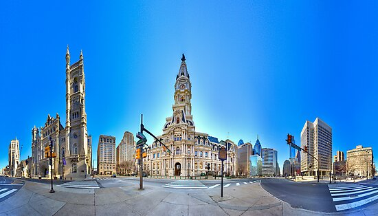 360 degree view ( MUST VIEW INTERACTIVE VERSION !  ) of the Philadelphia's Center City by electron