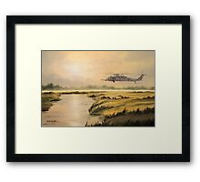 Pave Hawk Helicopter HH-60 On A Mission Framed Print