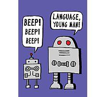 Beeping Robot Photographic Print