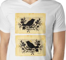 Birds of Okayama Mens V-Neck T-Shirt