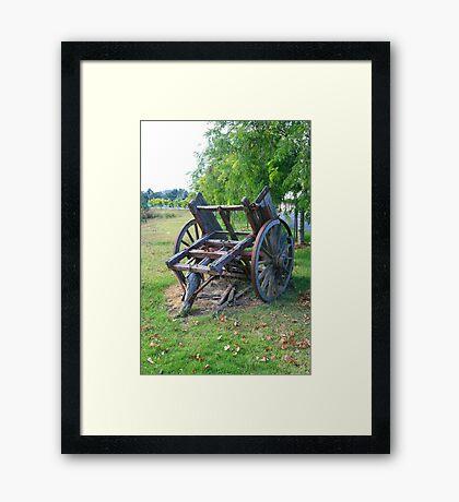 """ Wooden Wagon, Mt Barker, SA"" Framed Print"